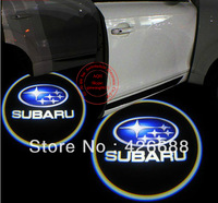 SU-BARU LOGO car logo door light LED Welcome Light ghost shadow light laser lamp B22 GGG FREESHIPPING