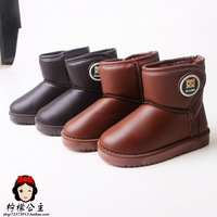 2013 child winter boots waterproof velcro boy boots child thermal male child snow boots kids winter shoes