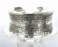 New Tibetan Tibet Silver Totem Bangle Cuff Bracelet  a43
