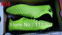 Free Shipping Fashion Lime Football Shoes Men New Soccer Ball Boots 2013 Outdoor Cleats New In Box Athletic Footwear US6.5-12Sz