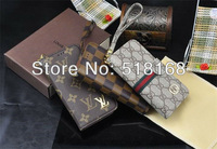Luxurious Grid Print Leather Case For Samsung i9300 Galaxy SIII S3+Retail Box