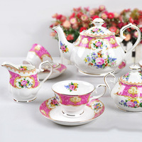 4 large english coffee bay11 set d'Angleterre fashion teapot dish bone china cup ceramic