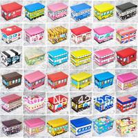 Cartoon Toys  Storage Box Car Rectangle Large Bus Folding Storage Box