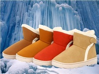 Free  shipping  fashion brown  boots  women's warm  shoes
