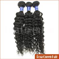 100% Natural AAAAA Grade Remy Virgin Deep Wave 3 Bundles Brazilian Hair Weave Guangzhou Hair Wig Rosa Queen Hair