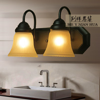 Fashion wall lamp double slider mirror rustic ofhead brief wall lights lighting lamps