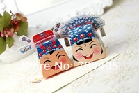 Free shipping!3D Chinese Beijing opera Bride and Groom Wedding Favor Boxes, Paper Gift Boxes,Candy Box,Chocalate Boxes