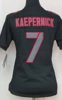 wholesale San Francisco #7 womens kaepernick jersey red Black white embroderi Logo