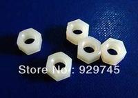 100pcs M3 Nylon Screw Nut Hexagonal Male Standoff Spacer PN-3N