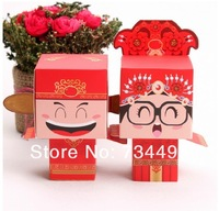Free shipping!100pcs chinese Bride and Groom Wedding Favor Boxes gift box candy box wedding bonbonniere.