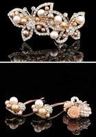 free shipping adult crystal rhinestone hair barrette hair claw hair pin 4pc/set hair accessories