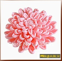 100% Silicone Shower Stockings Soap Molds, Big Chrysanthemum Flower Candle Theme Design 3D Decorations essential oils Mould