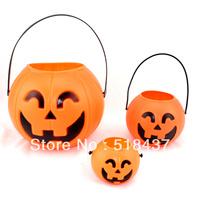 jack-o'-lanterns pumpkin lanterns Halloween decorations Christmas decoration props portable pumpkin bucket  pot free shipping