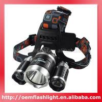 3000 Lumens BORUIT RJ-3000 3 x Cree XM-L T6 4-Mode Headlamp with Charger
