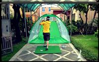 freeshipping Indoor golf practice net swing trainer beginner net suit golf driver range trainer