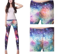 2013 Fashion Sexy Fitted For Forward Women Temperament Personality Slim Digital Printing Leggings Wholesale Free Shipping