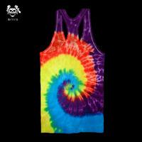 Handmade tie-dyeing reggae hallucinogenic 100% culpable cotton slim elastic tank