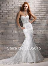 Vestido De Noiva Sereia Custom Made Ivory Satin Tulle Lace Beading Crystal Mermaid Wedding Dress Bridal
