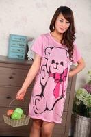 J010 Pajamas costumes women summer, autumn bathrobe Nightwear nightgown Sleepwear bathrobe Bear patterned