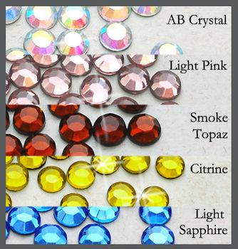 7200pcs ( 5 color) 4mm Wholesale 16ss Hotfix Glass Crystal Iron On Loose new Stone Round FLATBACK Hot-fix Rhinestones (4m-Big D)