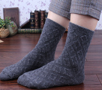 woman  socks rhombus bubble flower sock wool  boots socks short   autumn and winter female socks