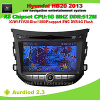 Android 2.3 OS A8 Chipset Car DVD GPS For Hyundai HB20 2013  with GPS 3G Wifi BT 20 Disc Playing FREE Shipping+Map+Gifts