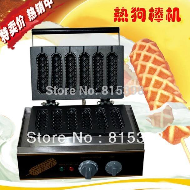 6 pcs muffin electric hot dog maker machine(China (Mainland))