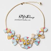 Fashion banana republic b r fresh flower big necklace bracelet