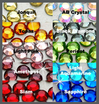 14400 pcs ( 10 color ) 4mm Wholesale 16ss Hotfix Glass Crystal Iron On Loose Stone Round FLATBACK Hot-fix Rhinestones (4m-Big H)