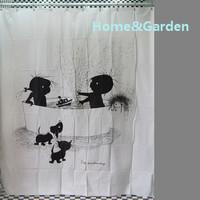 Home garden cute children cartoon bathroom pvc waterproof shower curtain 180x180cm 2A09C061