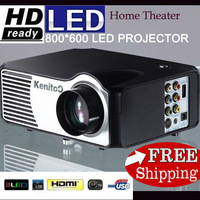 LED Projector 800*600 LCD Display Home Multimedia Theatre Projector Wholesale Support AV VGA HDMI USB TV  Full Interface Input