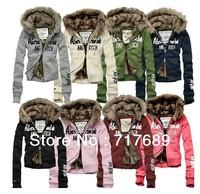 Free~winter Couple models Men's/Women's short Hoodies cotton-padded jacket outerwear lady warm double layer hoody sweater coat