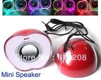 Free Shipping Popular  Mini Speaker MP3 Music Amplifer Fashion Megaphone A Pair of  Speaker