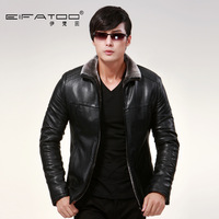 HOT !!! Men's brand winter thickening Fur one piece fleece plus size warm leather clothing outerwear Jacket Coat / M-5XL