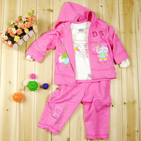 Children's clothing female child set spring baby clothes spring three pieces set l109