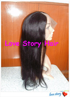 Beauty love story hair Yaki style120% density brazilian human hair U part wig  free shipping !