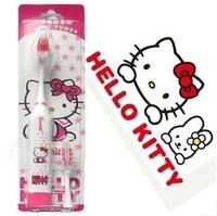 Kawaii Cartoon Hello Kitty&Doraemon Electric Toothbrush with 1 Toothbrush Head Accessories for Bathroom Retail