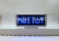 Freeship 2PCS Blue LED scrolling message display board desk panel /car advertising /programmable rechargable/led mini display
