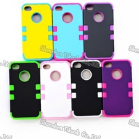 New case for iphone 4/4s CAMO pattern design 3-in-1 tpu+ pc hard shell 350pcs/lot DHL Free shipping