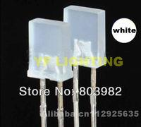 White square 5mm led 257 package dip led 6000-6500K cool white led(CE&Rosh)