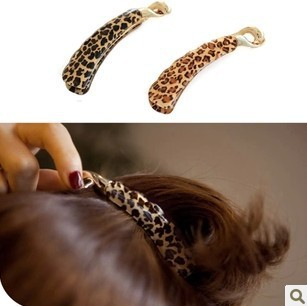 Min.order is $5 (mix order) Free Shipping,Korean Jewelry,Leopard Print Hairpin,Hair Accessory(OH0358)(China (Mainland))