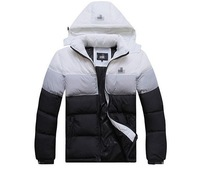 2013 brand Men down jacket SPRING AUTUMN sportswear men stitching color cotton tracksuit sports hoody leisure wear b239