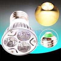 12pcsE27 Warm White 3X2W 85V - 265V Spotlight 220V 110V Home LED Light Bulb Lamp