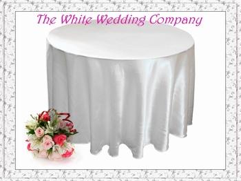 Free Shipping to US A Dozen White Satin Wedding Table Covers  Tablecloth 120'' Round
