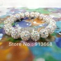 Min. order is $9 (can mix style) New Arrival Fashion Shamballa  crystal AB ball beads shambala bracelets