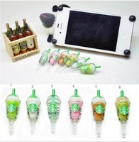 Free Shipping 6pcs/set Cute Starbucks Shaped Dust Plug for iPhone 4/4S/5 3.5mm Earphone Jack Plug With Retail Package