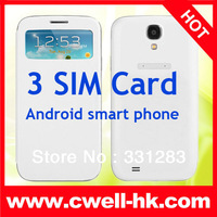 Cheap 5.0 Inch  5.0MP Camera 3 SIM Card  MTK6572 Dual Core Android 4.2 phone U9503