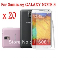 20pcs/lot Galaxy Note 3 Screen Protector Clear Screen Guard Flim For Samsung Galaxy Note3 N9005 N9000 (10 film+10 cloth)