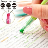 freeshipping HappY FROGS 3 way marker Lines neon pen multi tip marker,doodle neon pen marker pen,1mm-5mm tip