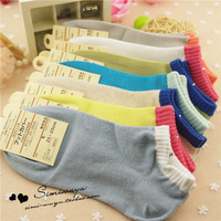 6 double female socks female sock slippers women's 100% cotton sock sports socks casual socks